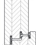 Bild: Haustür Rahmenbauweise