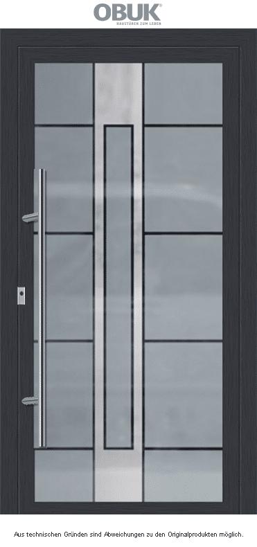Moderne stilvolle Haustür