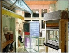 Ausstellung Blanke Bauelemente: Beschattungen