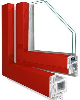 Hochwertiges Kunststofffenster mit Alu-Vorsatzschale