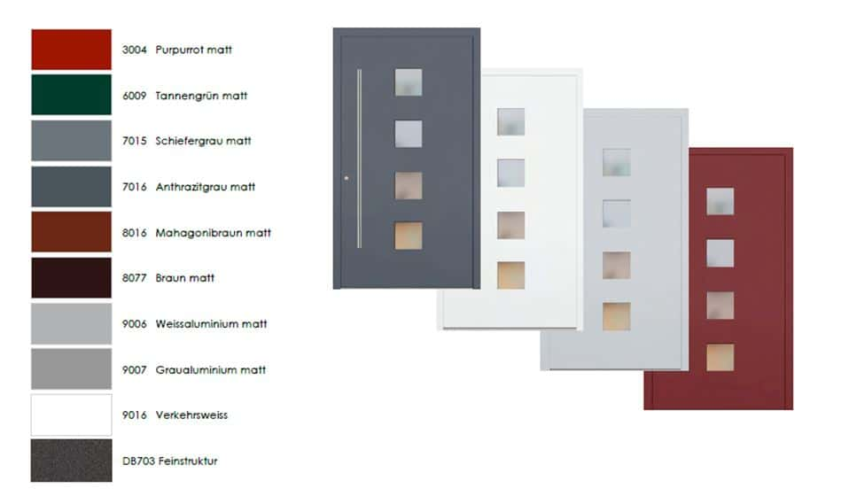 Bild: Farbwahl Haustüren