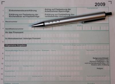 Einkommensteuer-Erklärung © Dieter Schütz  PIXELIO www.pixelio.de